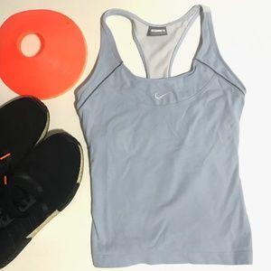 Nike women's tank top S blue tennis running